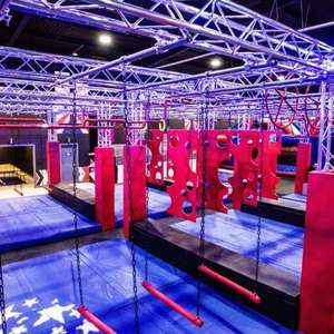 Ninja Warrior (Wigan / Cardiff ) - Entry for One Hour (1 Person) £6.36 / (2 People) £12.40 / (4 People) £24 with code @ Groupon
