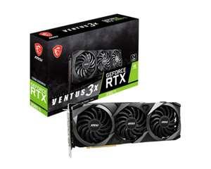 MSI GeForce RTX 3080 Ti VENTUS 3X 12GB Graphics Card £1149.99 @ Ebuyer