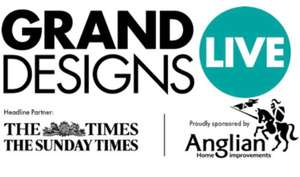 FREE Grand Designs Live tickets with code - at the Birmingham NEC from Wed 6 Oct to Sun 10 Oct