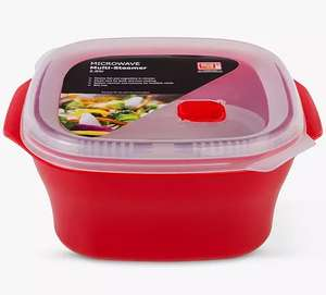 good2heat PLUS Microwave Lidded Multi-Steamer W20cm x D23cm 2.6L - £1.49 @ John Lewis & Partners (+£2 Click & Collect / £3.50 delivery)
