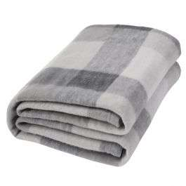 Dreamscene Tartan Check Fleece Throw in grey/white (120 x 150 cm) for £6.95 delivered @ OnlineHomeShop