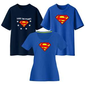 100% Cotton Official Licensed DC Comics Superman & Supergirl T-Shirts (Men's or Women's) - £4 Each Delivered @ WeeklyDeals4Less