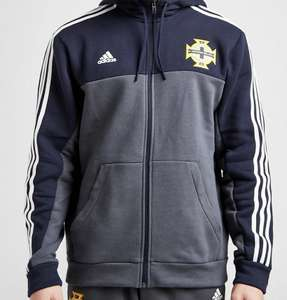 adidas Northern Ireland 3-Stripes Full Zip Hoodie - £15 (+£3.99 Delivery) @ JD Sports