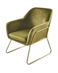 Kirkton House metal framed armchair in olive or pink velvet for £74.94 delivered (mainland UK) @ Aldi
