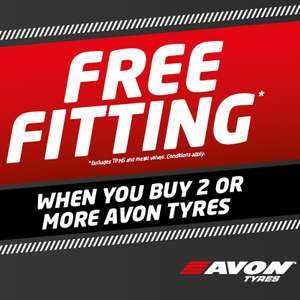 Free fitting when you buy 2 or more Avon Tyres E.g.Two 235 45 R17 ZV7 for £138.18 @ ATS Euromaster