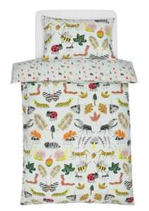 Home Kids Insect Cotton Bedding Set £5 toddler £6 Single with free click and collect from argos