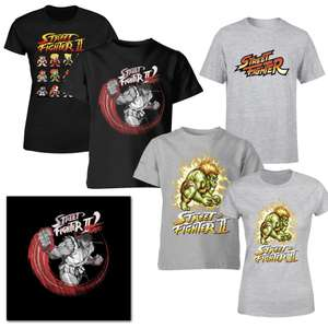 Kid's Street Fighter T-Shirts £5 / Adults Sizes £7 (Discounts at Basket) + Free Delivery @ IWOOT