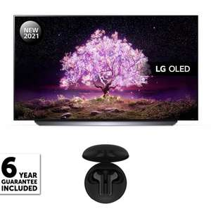 LG 55 inch OLED 4K Smart TV + 6 Year Guarantee [OLED55C14LB] & Free LG Tone Free Earphones - £1249 Delivered With Code @ Richer Sounds
