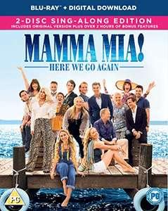Mama Mia 2 Blu-ray £1.73 (+£2.99 non-prime) @ Amazon
