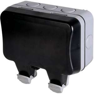 BG British General Twin 13A Weatherproof Switched Socket - IP66 Rated - £8.50 (Click & collect in Limited Locations) at Homebase