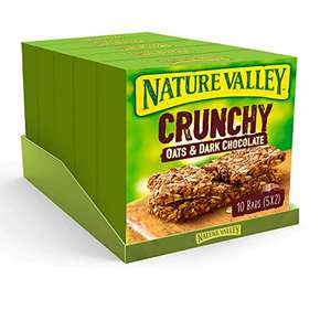 Nature Valley Oat & Chocolate/Peanut Butter/Variety Bars - 5 Boxes of 10, (50 Bars) - £5.95 Prime / +£4.49 non Prime / £5.06 S&S @ Amazon