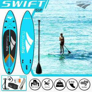 Stand Up Paddle Board SUP By SUPremacy 2021 Rapid Inflatable iSup Swift 199.99 delivered @ why.buy.new / eBay