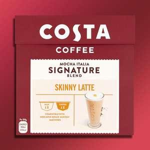 24 X Costa Coffee Mocha Italia Signature Blend Skinny Latte Dolce Gusto Pods (Yankee Bundles) for £6