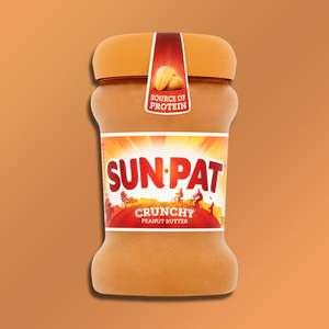 6 X Sun-pat Crunchy Peanut Butter 300g Jars (Yankee Bundles) £3 At Yankee Bundle (Best Before End August 2021)