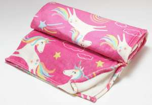 Argos Home Kids Pink Unicorn Fleece, £5 (Free click and collect) at Argos (Glow in the Dark/Peppa Pig also £5)