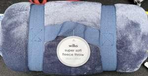 Super soft fleece throw 200 x 200 - £2.50 at Wilko Stourbridge