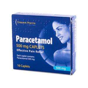 Paracetamol Caplets 500mg 16s - 29p instore / £4 delivery at Savers