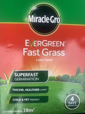 Miracle-Gro Evergreen Fast Grass Lawn Seed 28m2 - £3 at Tesco Airdrie