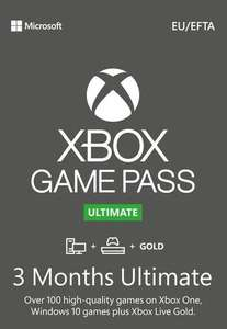 Xbox Game Pass Ultimate – 3 Month Subscription £14.85 using code (via Turkey VPN - New and Existing Subs) @ Eneba / Jetpak