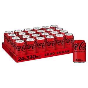 Coke zero 24 x 330ml cans £7 (+£4.49 non-prime) @ Amazon