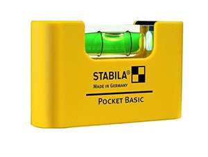 Stabila 17773 Pocket Basic Spirit Level £5.99 (+£4.49 non-prime) @ Amazon