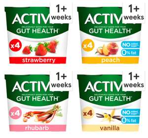 Activia Yogurts (Various Flavours 4 x 115g) - £1 (Clubcard price) @ Tesco