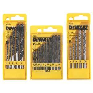 23 Pieces DeWalt Straight Shank Combination Drill Bit Set - £9.99 (Free click & collect) at Screwfix