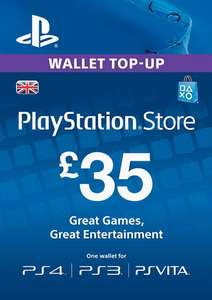 £35 PlayStation Network (PSN) Top-Up - £28.74 / £45 Card - £37.10 / £30 Card - £24.73 @ Instant Gaming