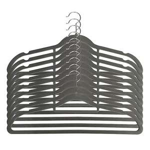 Pack Of 10 Grey Flocked Hangers - £2.40 (with free click and collect) @ Dunelm