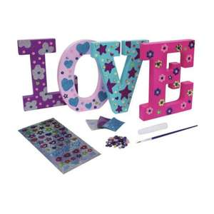 Chad Valley Be U Love Sign Decoration (Includes Sequins, Glitter, Glue & more) now £2.50 (Click & Collect) @ Argos