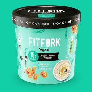 12 x FitFork High Protein (15g) Vegan Salted Caramel Porridge 65g Pots Best Before 23/11/2021 - £8 at Yankee Bundles