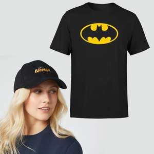 Batman Cap & Adult T-shirt (various designs) £12.99 delivered with code @ IWOOT