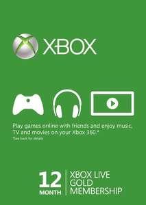 Xbox Live Gold 12 Months Xbox Live Key Turkey (Activate via VPN) £21.49 @ CDKeys