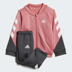 adidas Mini Me XFG Baby / Toddler Tracksuit in Hazy Rose & White £14.70 delivered using code @ adidas