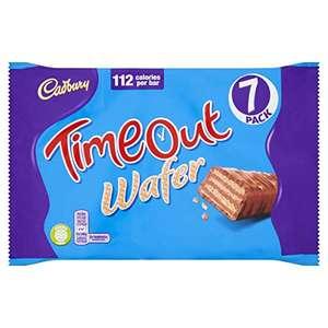 Cadbury Timeout Wafer Bars (7 x 21.2g) £1 (+£4.49 non Prime) Delivered @ Amazon