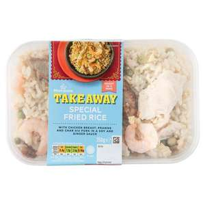 Morrisons Chinese Special Fried Rice with Chicken, Prawns & Pork in a Soy & Ginger Sauce 350g - £1 @ Morrisons