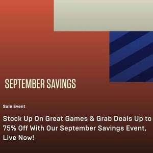 Epic Games September Savings up to 75% off - Civilization VI £7.49, Prey £10.49, borderlands 3 £16.49, Valhalla £29.99, Wolfenstein £4.49