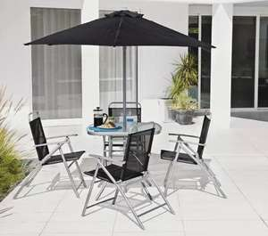 Argos Home Atlantic 4 Seater Metal Patio Set -Black & Silver. £80.00 with free click and collect from Argos