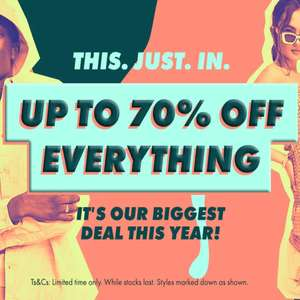 Up to 70% off everything on Asos
