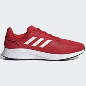 Men's Adidas Runfalcon 2.0 Trainers - Vivid Red/Cloud White/Solar Red - £25.20 using discount code @ adidas