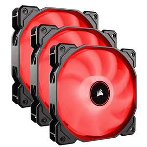 3 Pack Corsair AF120 Air Series, 120 mm LED Low Noise Cooling Fan - Red, £21.98 / Blue at £22.99 at Amazon