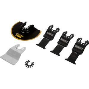 DeWalt Multi-Tool Accessory Set - 5 Piece in case £14.98 Free Cick & Collect @ Toolstation