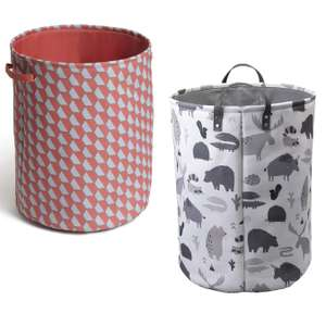 Habitat & Argos Home Laundry Bags - 6 designs e.g Pebbles, Bears, Hexaganol, Wildlife etc. now £3.60 click & collect @ Argos