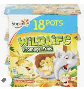 18 Pot Pack Yoplait Wildlife Fromage Frais reduced to 25p in-store at Sainsbury's (Ross on Wye)