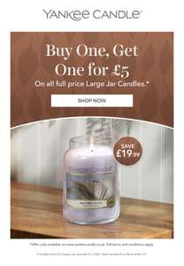 £29.99 for 2 Large Yankee Candles @ Yankee Candle Shop