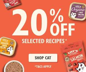Lily's Kitchen Pet Food 20% off selected items + £4.95 delivery (free over £29)