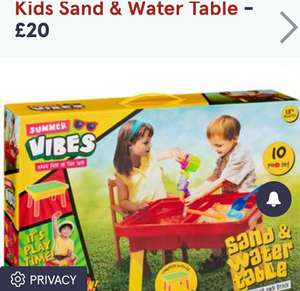 Sand and water play table £5 B&M Stores Chester Caldy Valley