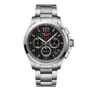 Longines Performance Conquest V.H.P. Chronograph Black Steel Watch £950 @ Fraser Hart