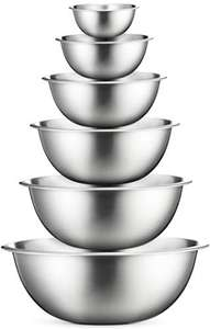 Premium Stainless Steel Mixing Bowls Set of 6 - £9.99 (+£4.49 Non Prime) @ Sold by YH-Goods UK and fulfilled by Amazon