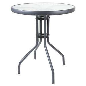 Marko 60cm Round Bistro Table Anthracite Frame Glass Outdoor Garden Patio Table £19.99 Delivered @ onlineretailers/eBay